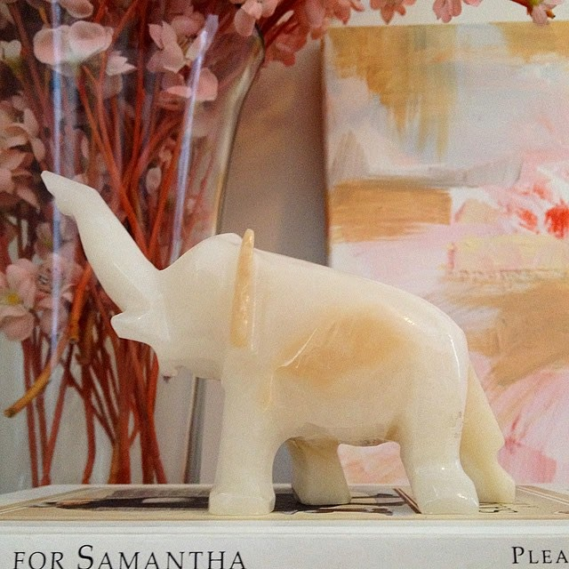 #thriftscorethursday Week 48 | Instagram user: tshirtjeansnicki shows off this White Marble Elephant