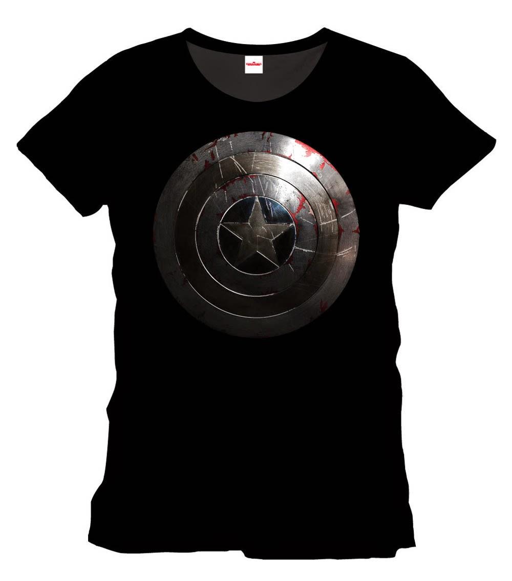 Camiseta Escudo Capitán América gastado