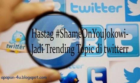 Harga BBM Naik, Hastag #ShameOnYouJokowi Jadi Trending Topic di twitter