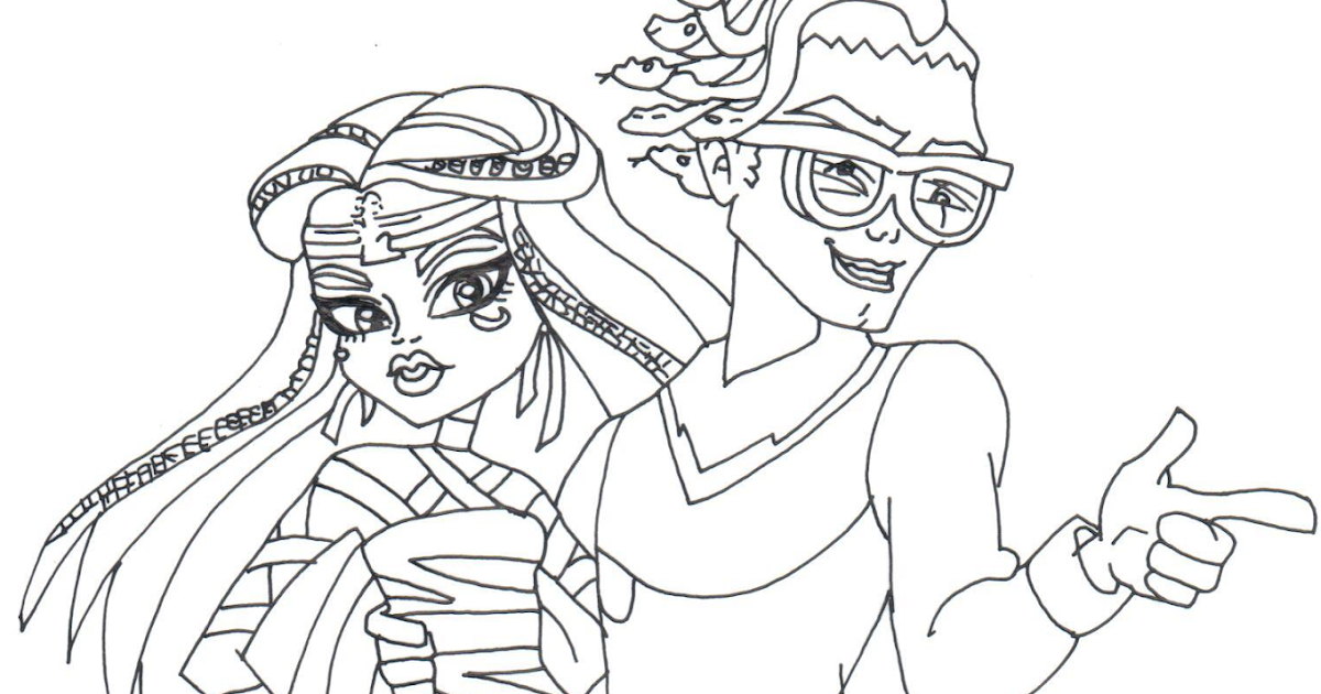 free printable monster high coloring pages boo york cleo and deuce monster high coloring page - York Coloring Pages Printable
