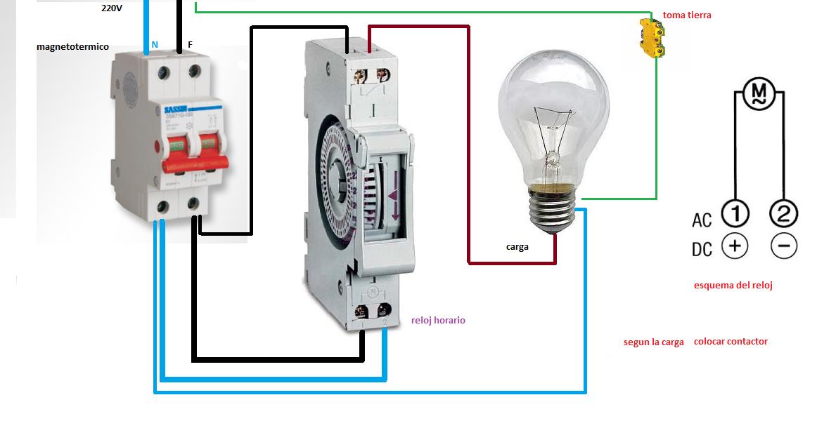 Extractor De Baño Sica:reloj horario ~ Esquemas eléctricos
