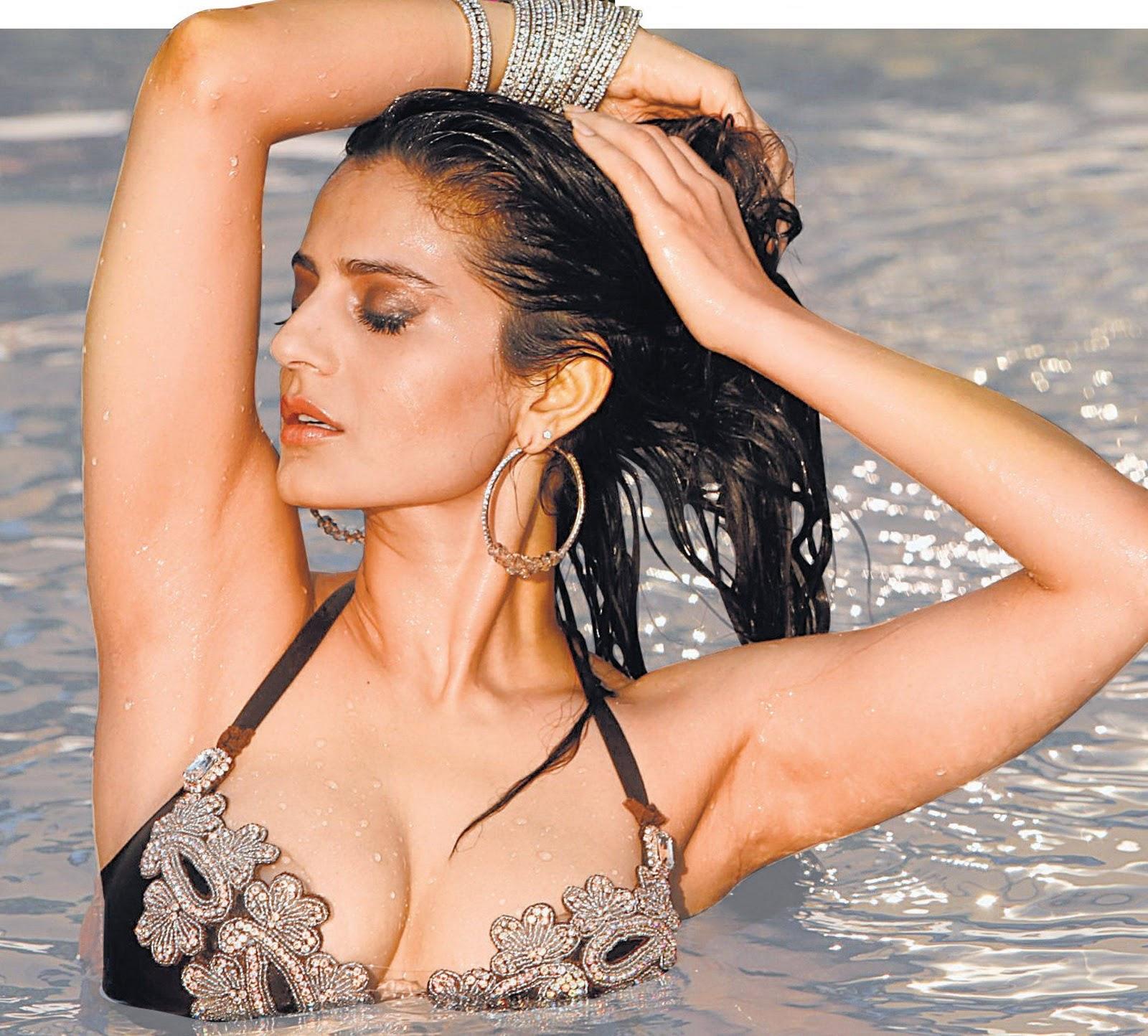 Amisha patel yellow bikini show 9