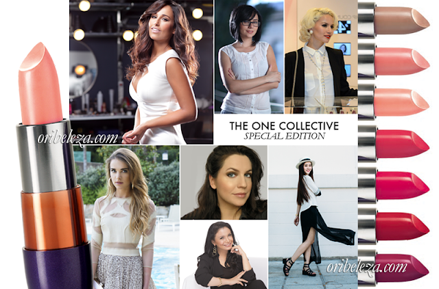 Tons de Batom criados por celebridades do The ONE Collective da Oriflame