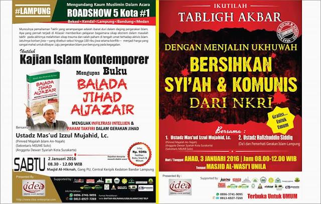 Tabligh Akbar, Roadshow, Info Kajian
