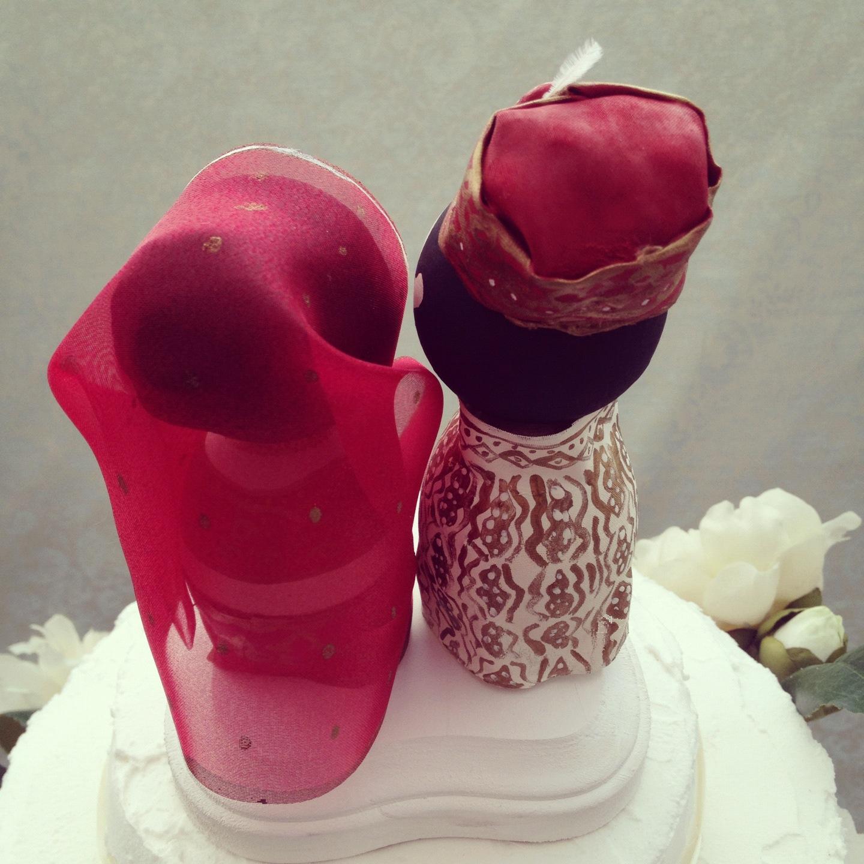 DSMeeBee Custom Traditional Indian Wedding Cake Toppers