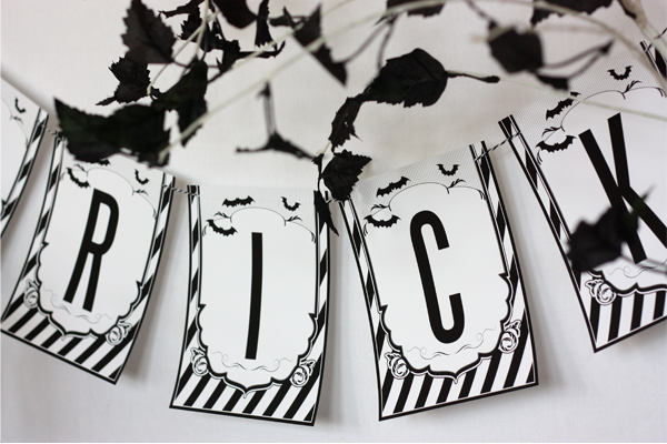 Wants and wishes party planning black and white - Halloween black and white ...