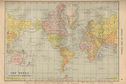 Atlas Of The World 1914. Wonderful little map of the
