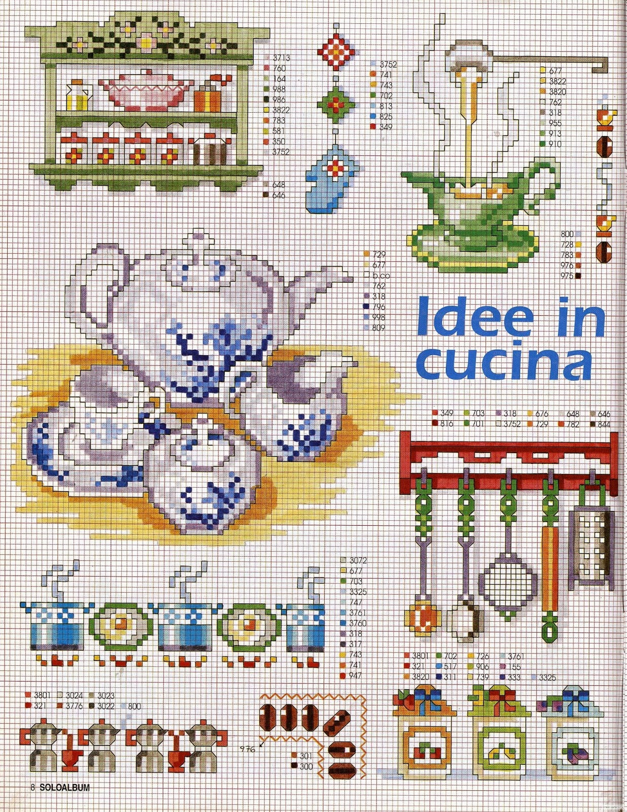 Grande raccolta di schemi e grafici per punto croce free schemi punto croce gratuiti per la - Idee in cucina ...