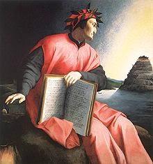 Dante y la montaña del Purgatorio