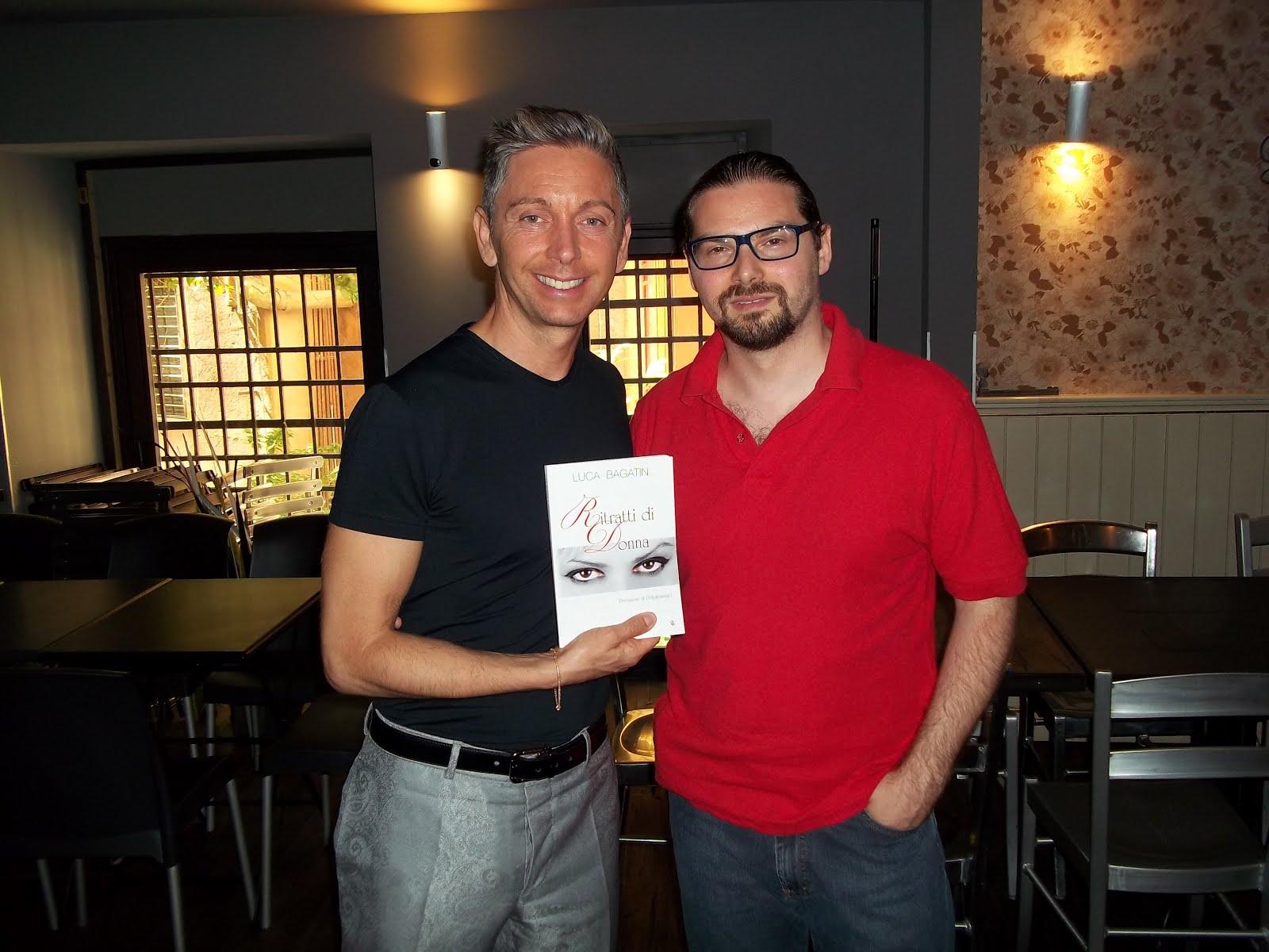 Luca Bagatin con Gianluca Mech (giugno 2016)