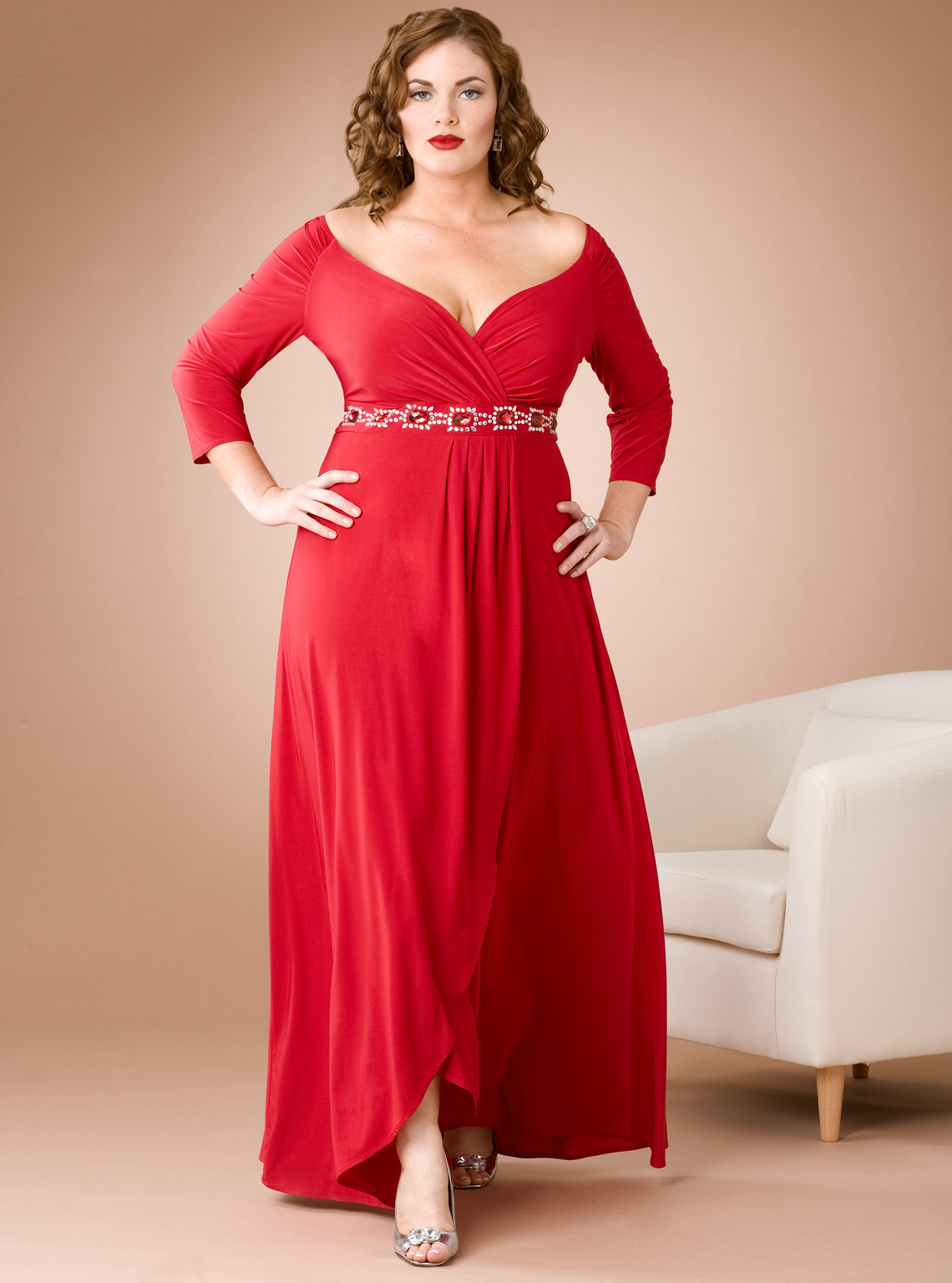 Plus size dresses red dress for less