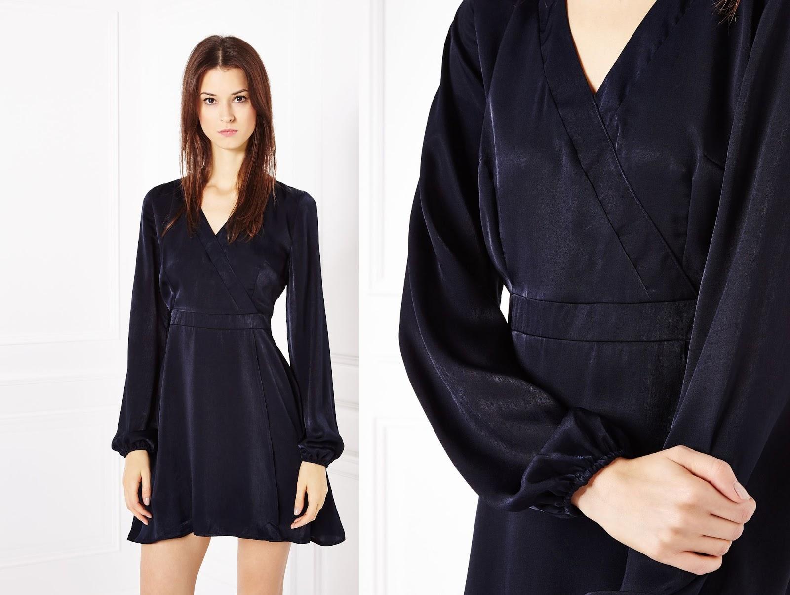 aksamitna sukienka