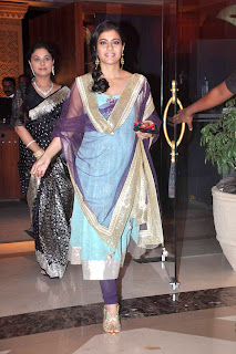 Kajol @ Bappa Lahiri & Taneesha Verma Marriage Reception