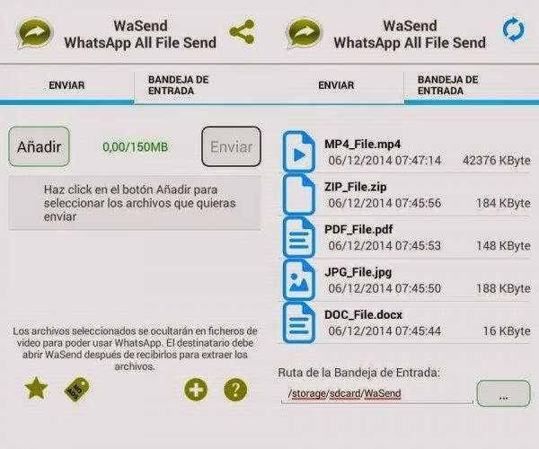 Trucos para WhatsApp - Enviar archivos de gran tamaño y otros formatos