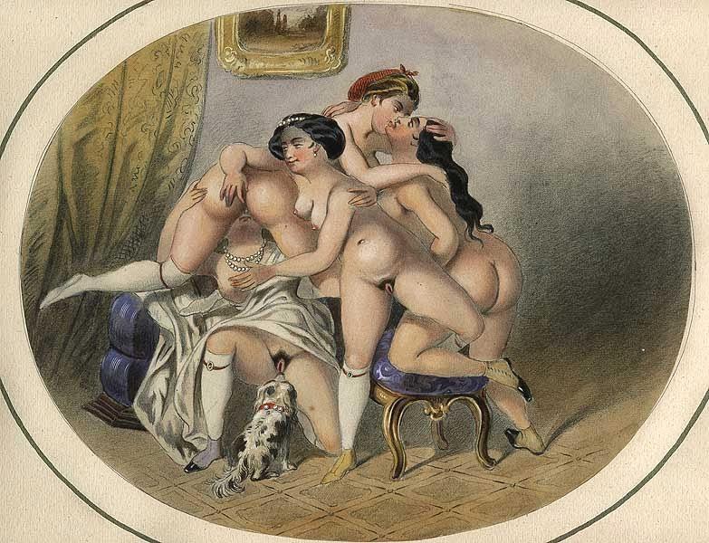 эротические старинные фото рисунки