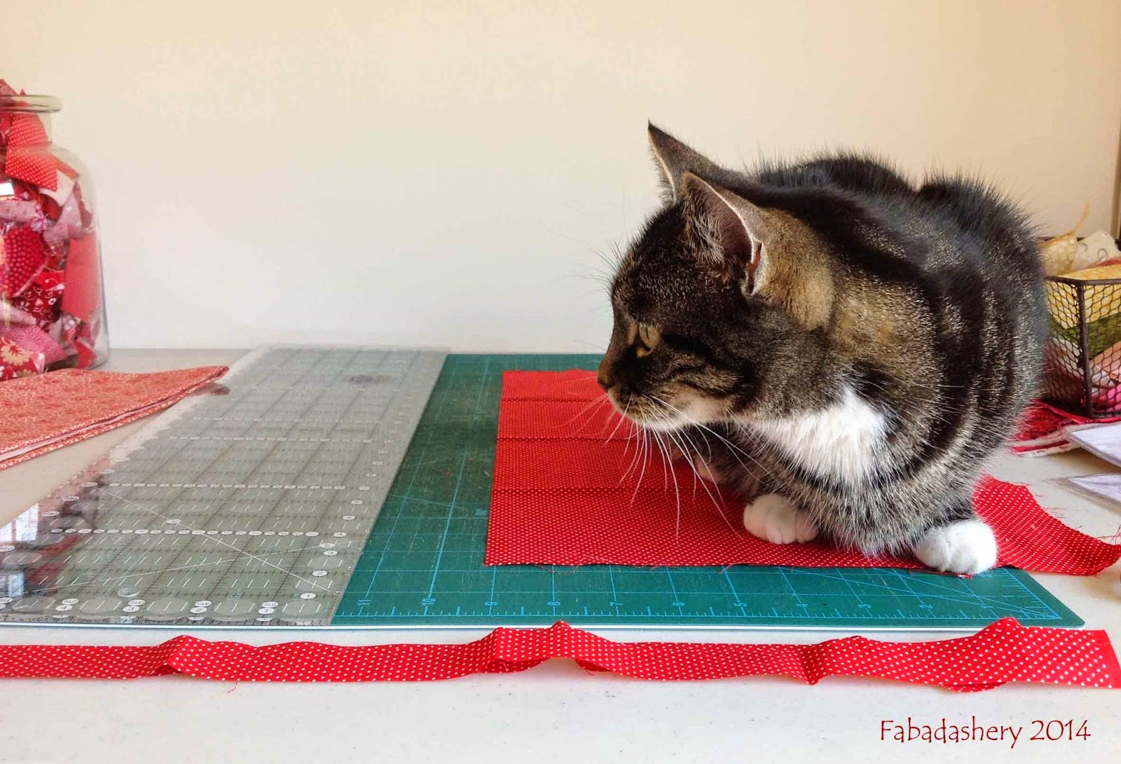 Nearly Insane Quilt - Cat Assistance
