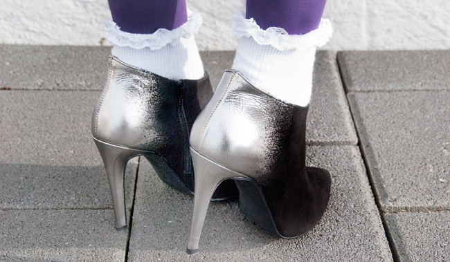 voegsel shoes, metallic, pointed boots