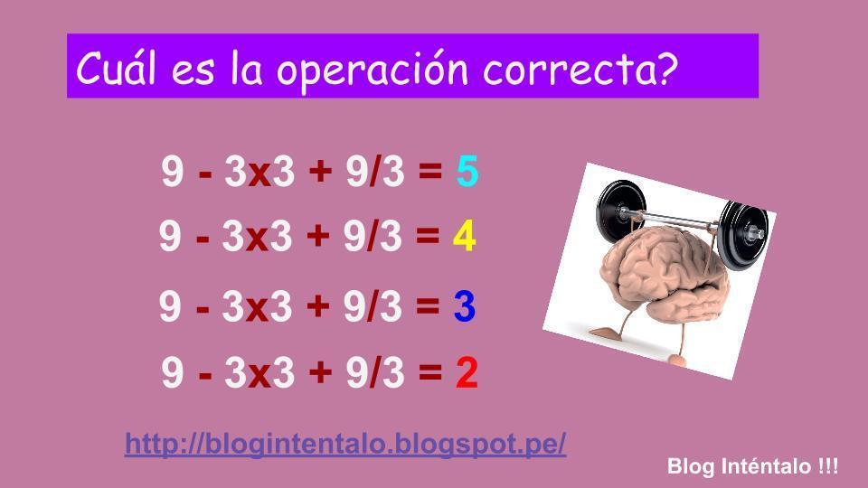 Matemáticas para el cerebro ~ Inténtalo !!!