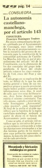 Artículo 29/10/1983. Diario YA