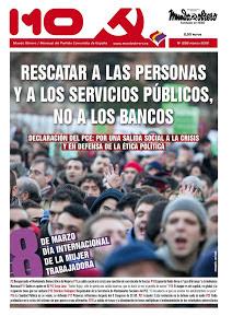 PRENSA OBRERA: Portada nueva edición de Mundo Obrero, nº 258 (Marzo 2013).