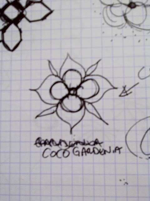 another original drawing for the Nbaynadamas Coco's Flower design