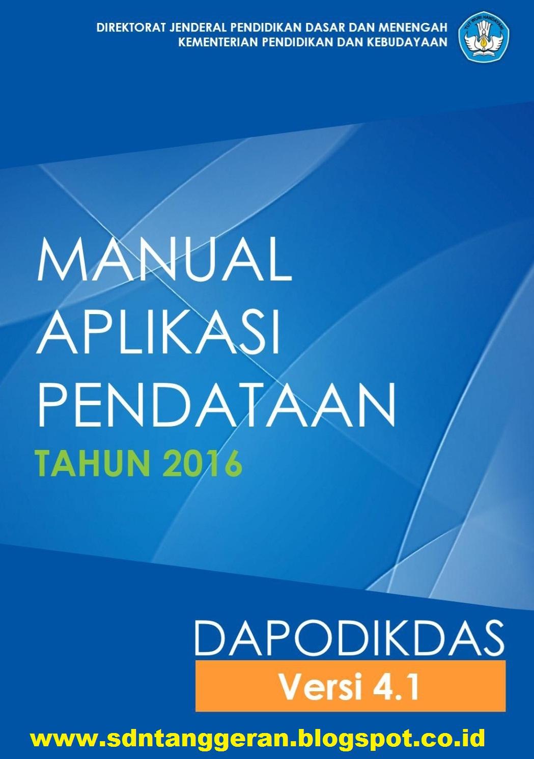 Ditjen Dikdasmen Terbitkan Buku Manual Dan Tanya Jawab Dapodik Versi 4 1 0 Blognya Sd Negeri