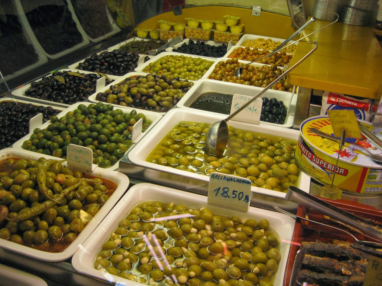 Barcelona - you can find all types of olives at La Boqueria market