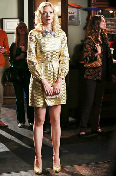"Lemon's Gold Metallic Jacquard Philosophy Dress Hart of Dixie Season 2, Episode 14: ""Take Me Home Country Roads"""