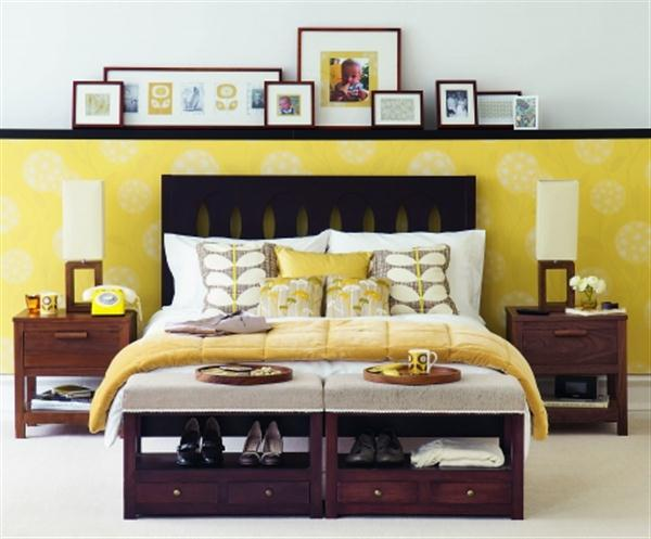 yellow bedroom decorating ideas with unique paint On bedroom designs yellow