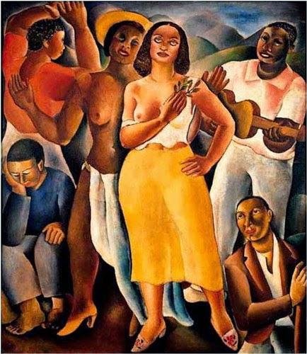 pintura de mulheres sambando