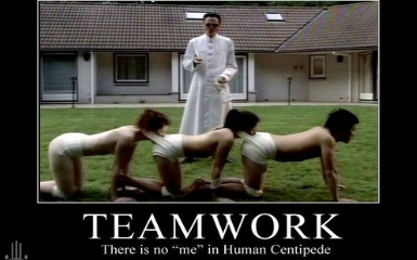 "Rush Limbaugh & Kirk Cameron to star in ""Human Centipede, Part III"""