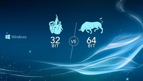 الفرق المعالجات windows-32-bit-vs-64