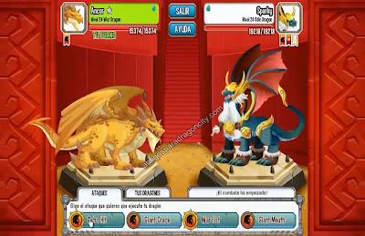 imagen del dragon guerra vs el dragon odin de la isla vikingo de dragon city