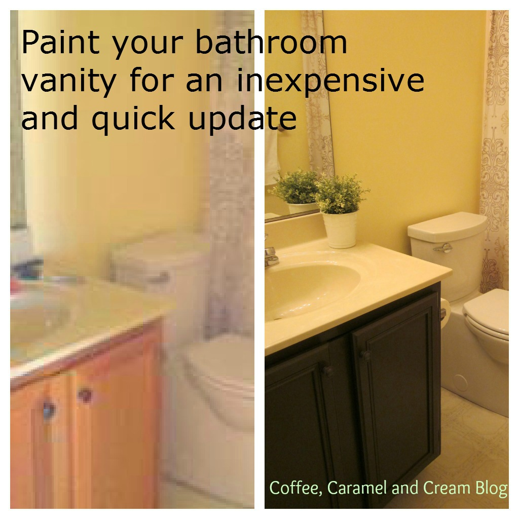 coffee, caramel & cream: how to paint your bathroom vanity