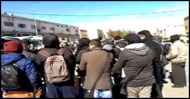 جانب من مظاهرة الأمس للتضامن مع المعنقلين