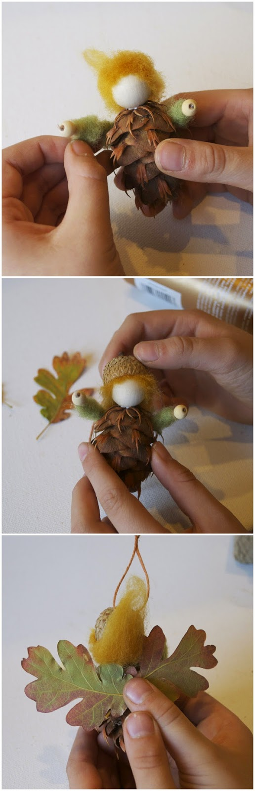 DIY Pinecone Fairy Ornaments