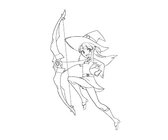 #4 Witch Coloring Page