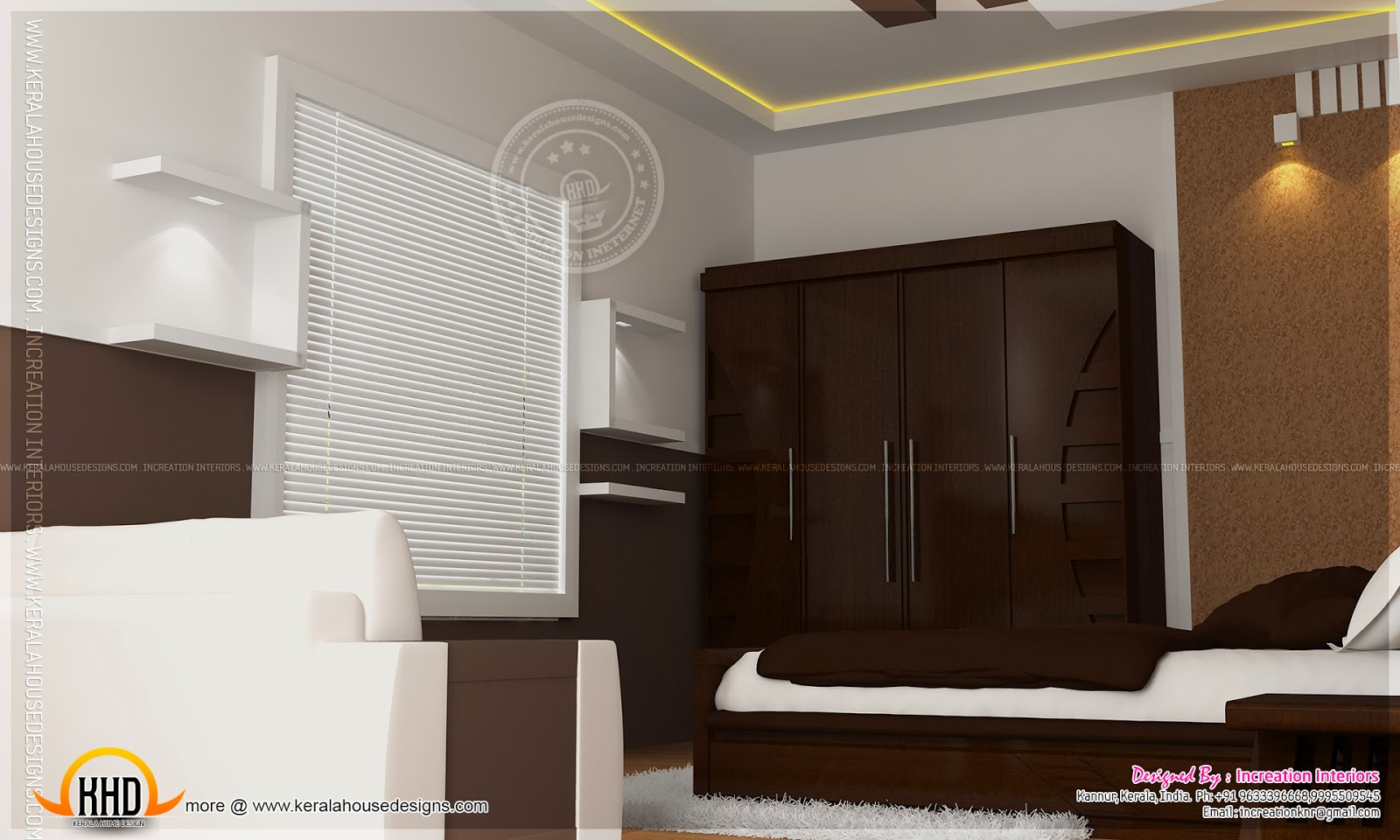 House interior design kannur kerala indian house plans for Indian wardrobe interior designs