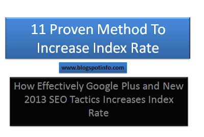 how to increase index rate with google plus