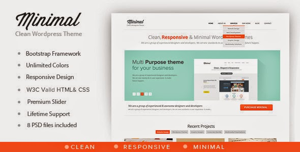 Minimal v1.0.1 - Multipurpose Minimal WordPress Theme