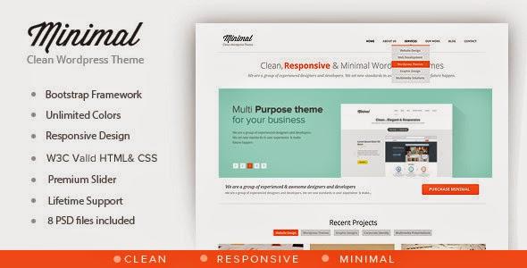 Minimal v1.0.1 - Multipurpose Minimal WordPress Theme