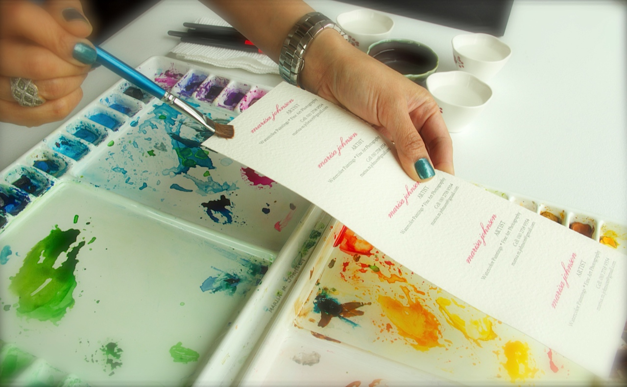 Water Color Business Cards Diy Images - Card Design And Card Template