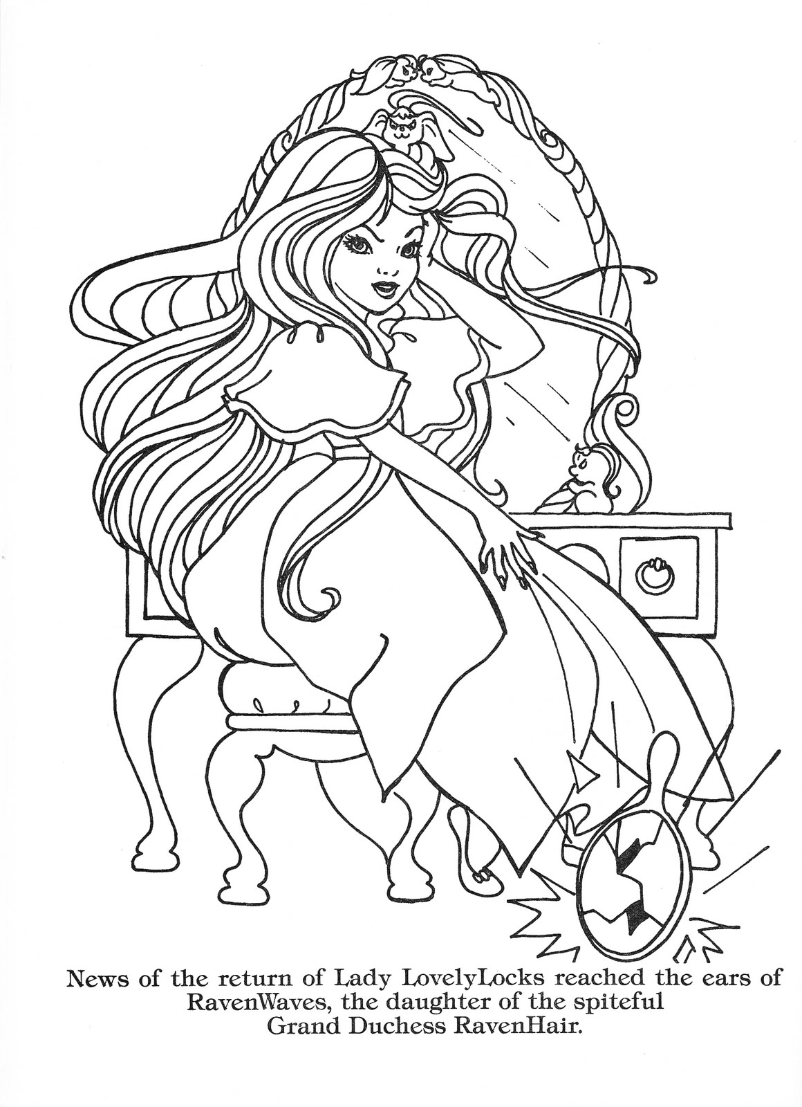 Lady Lovely Locks Coloring Pages Lady Lovely Locks The