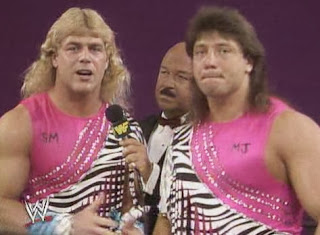 WWF / WWE: Wrestlemania 5 - The Rockers spoke to Mean Gene Okerlund before taking on The Twin Towers