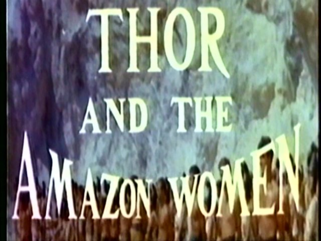 Thor and the Amazon Queen title