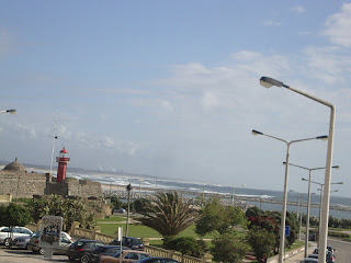 Figueira da Foz Beach lighthouse photo - Portugal