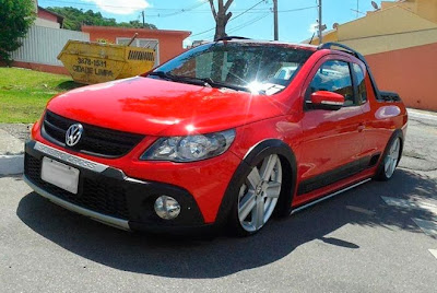 Saveiro Cross Rebaixada aro 18""