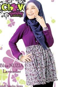 Clover Clothing Blus Nuzia - Lavender (Toko Jilbab dan Busana Muslimah Terbaru)