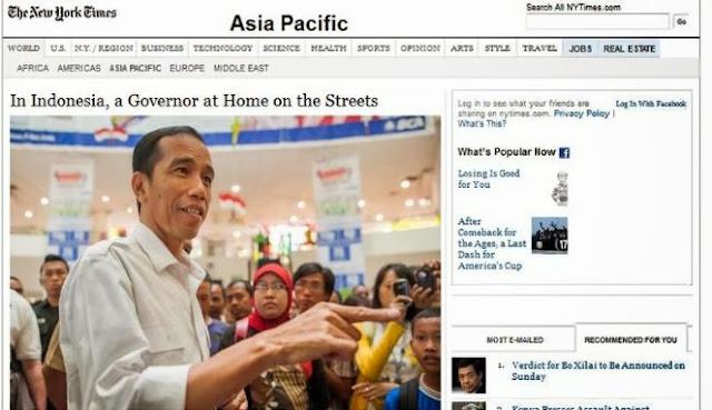 Gaya Blusukan Jokowi Diulas Koran New York Times