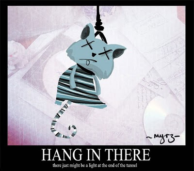 hang in there motivational poster